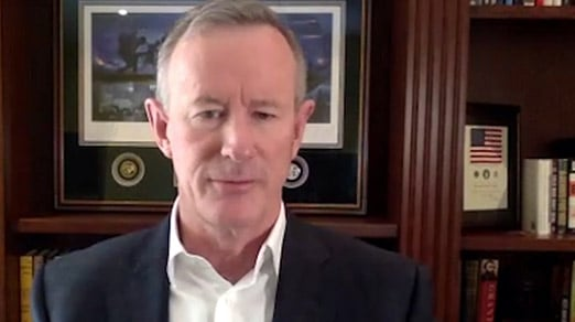 Video frame of Admiral William McRaven, U.S. Navy (Ret.)